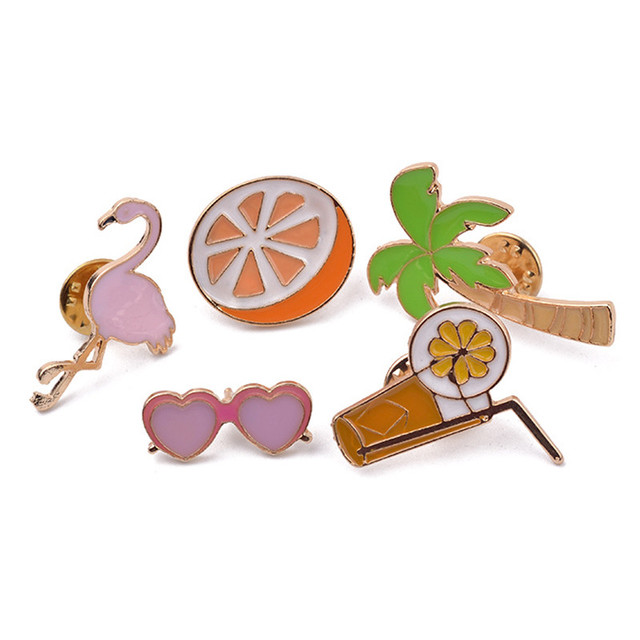 Animated Figures Brooch Pin