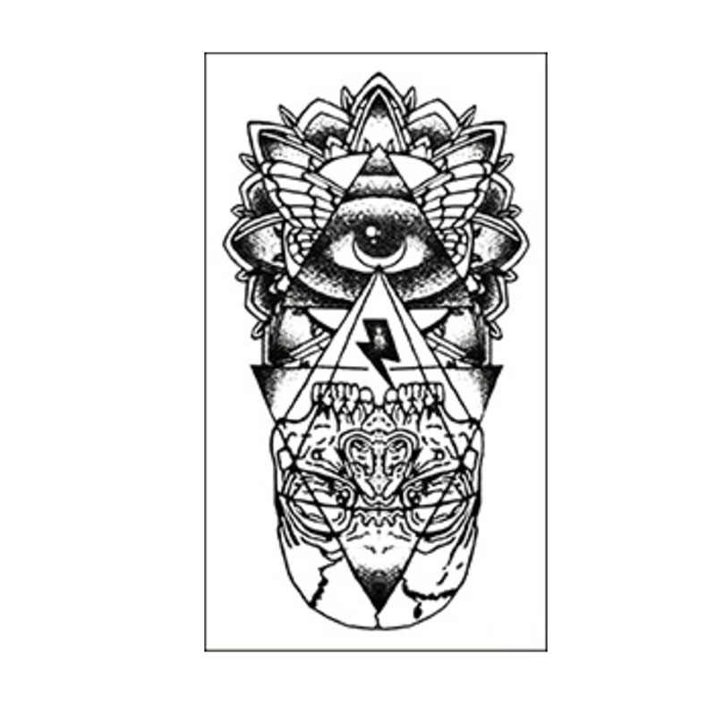 Глаз Божий Водонепроницаемый Временные татуировки стикер Тотем хна тату боди