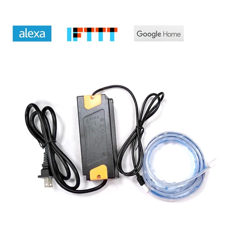 Zemismart RGBW LED Lumière Bande Travail avec Alexa Echo Google maison IFTTT Wifi Soutien jusqu'à 6 m Étanche Minuterie Voix contrôle