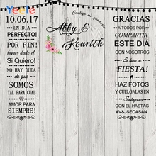 Yeele Wedding Personalized Photocall Party Wooden Board Wall Photography Backgrounds Photographic Backdrops For Photos Studio