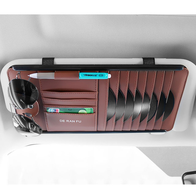 New CD Case CD Sleeve Car CD Storage Bag Multifunction Sun Visor CD Clip