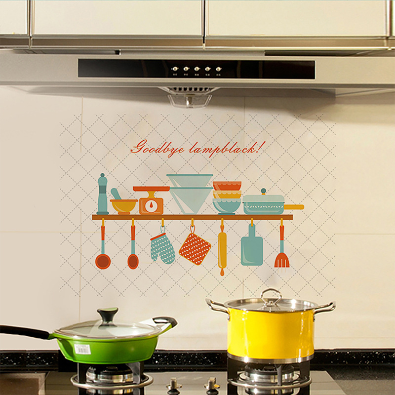 60*90cm Cooking Table Kitchen Oilproof Removable Wall