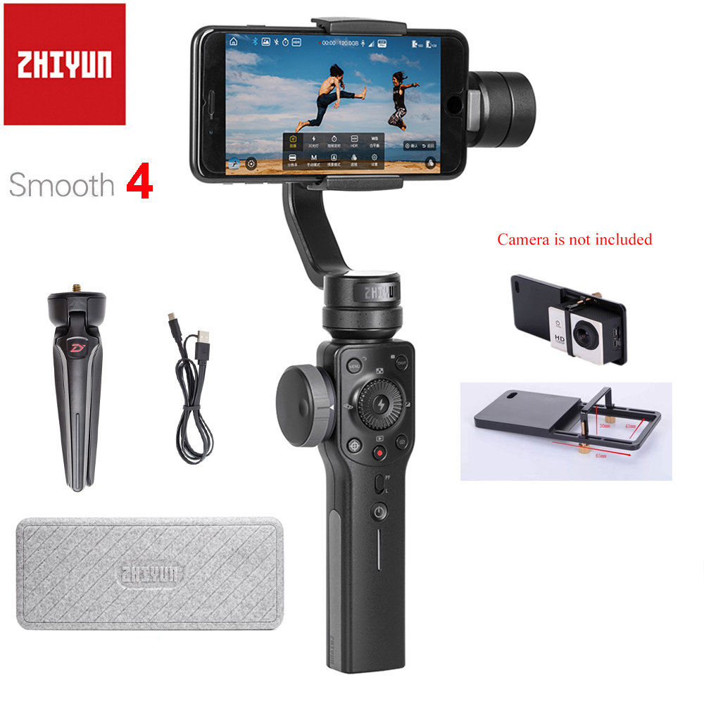 UK Stock Zhiyun Smooth 4 3 Axes Stabilisateur De Cardan pour iPhone X 8 7 Plus 6plus Samsung Galaxy S8 + S8 S7 Smartphones