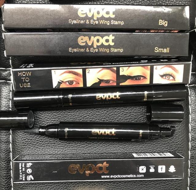 Black Liquid Eyeliner Stamp Marker Pencil Waterproof Stamp Double-ended Eye Liner Pen Cosmetic Eyliner 5 Styles 5