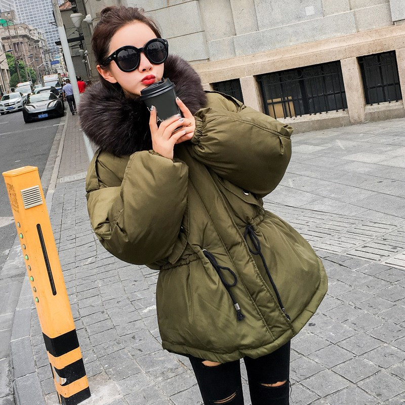 2017 Women Winter Warm thick Coats Jacket Parkas Female Overcoat High Quality Cotton long Coat fur collar Slim Parkas 2017 winter classic fashion fur hoodie coat jacket women thick warm long sleeve cotton coats student medium long loose overcoat