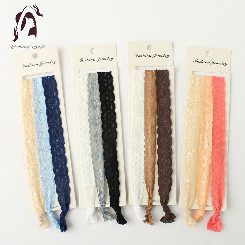 2017 New Long Elastic Hair Accessories Headband Women Colors Mix Hairbands Lace Jewelry Head Ties metting joura vintage bohemian ethnic tribal flower print stone handmade elastic headband hair band design hair accessories