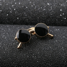 Mdiger Punk Style Zinc Alloy Enamel Glasses Brooch Pins For Women Jewelry Gold Plated Black Glasses Brooches Collar Pin 2 Pcs