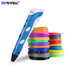 Myriwell 3D Printing Pen DIY Drawing 3D Pen With ABS filament Best For Kids Child 3D