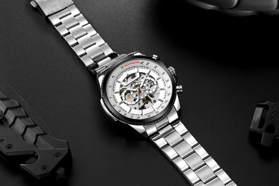 HTB1tsIpXND1gK0jSZFKq6AJrVXae 2018 WINNER Fashion Design Black mechanical Watch Steel Automatic watch men black stainless steel band business Relogio Male-428