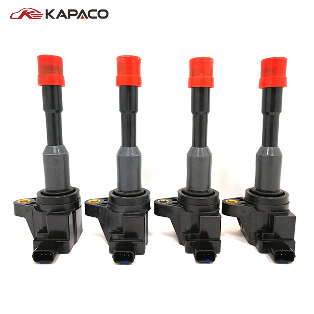 4pcs <font><b>30521PWA003</b></font> Ignition Coil Rear for Honda Civic Hybrid Sedan 2003-2011 1.3L 30521-PWA-003 image