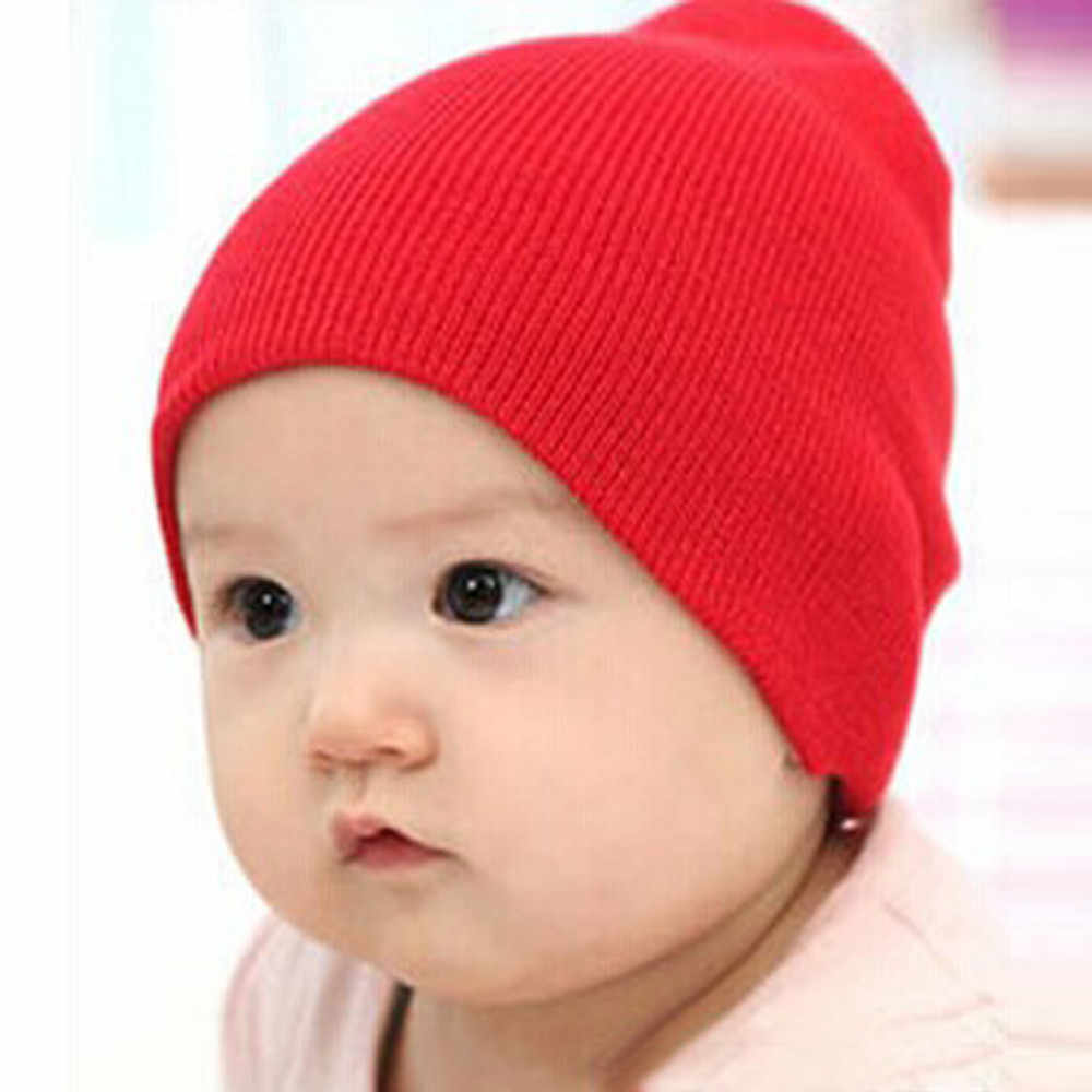 Kids Hat Cap Candy Solid Colors Boys Girls Baby Beanies Hats Cotton Born Baby Hat Toddler Infant Caps
