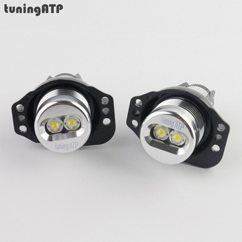 6W Angel Eyes LED Marker for BMW 3 Series E90 Sedan E91 Touring Pre-facelift Models With OEM Xenon Headlights White/Blue/Red image