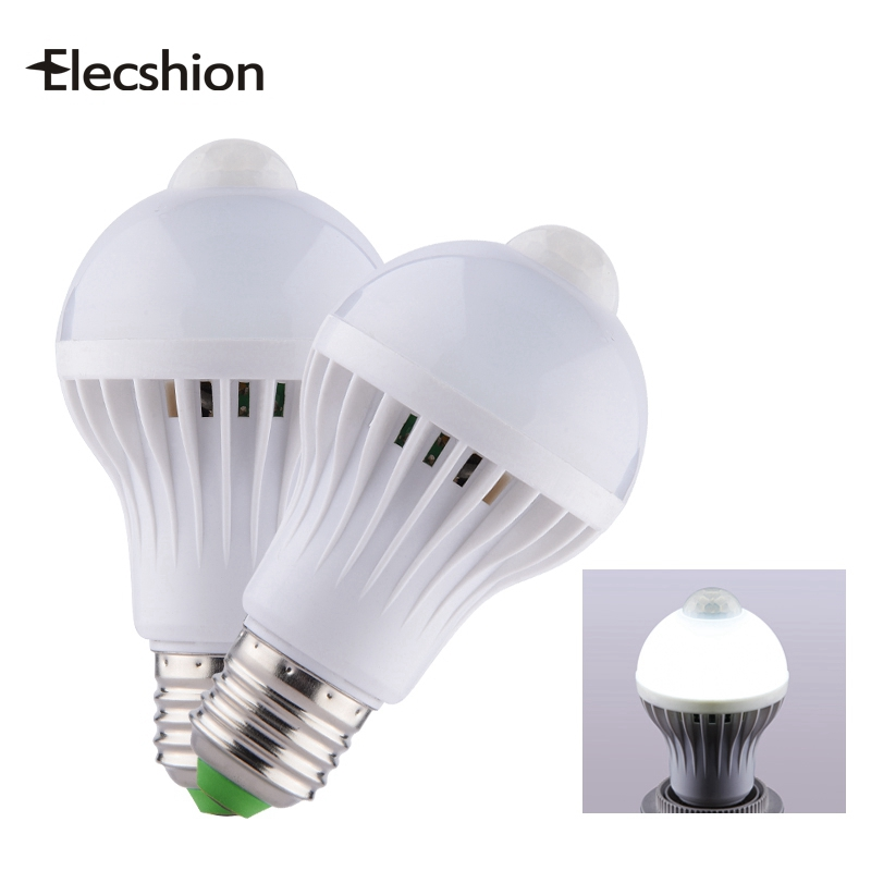 LED bulbE27 PIR Infrared Motion Sensor Lamp lighting LEDs SMD5730 ball 3W 5W 7W 9W AC220V annular holder spotlight wallDownlight e27 led pir motion sensor lamp holder ac 180 240v