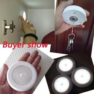Image 5 - 3pcs 6 LED Night Light Wireless Detector Light Wall Lamp Infrared PIR Motion Sensor Light Cabinet Stair Closet Toilet WC Smart