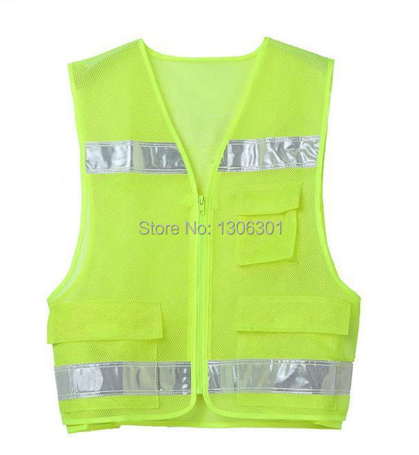 Fluorescent breatable Mesh reflective safety vest police work safety clothing