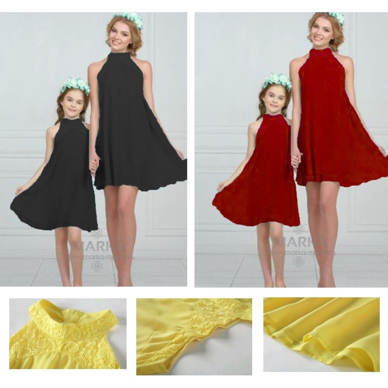 Chiffon Family Set Mother/Mom And Daughter Dress Family Look Mommy And Me Clothes Family Matching Outfit Look Family Clothing YN
