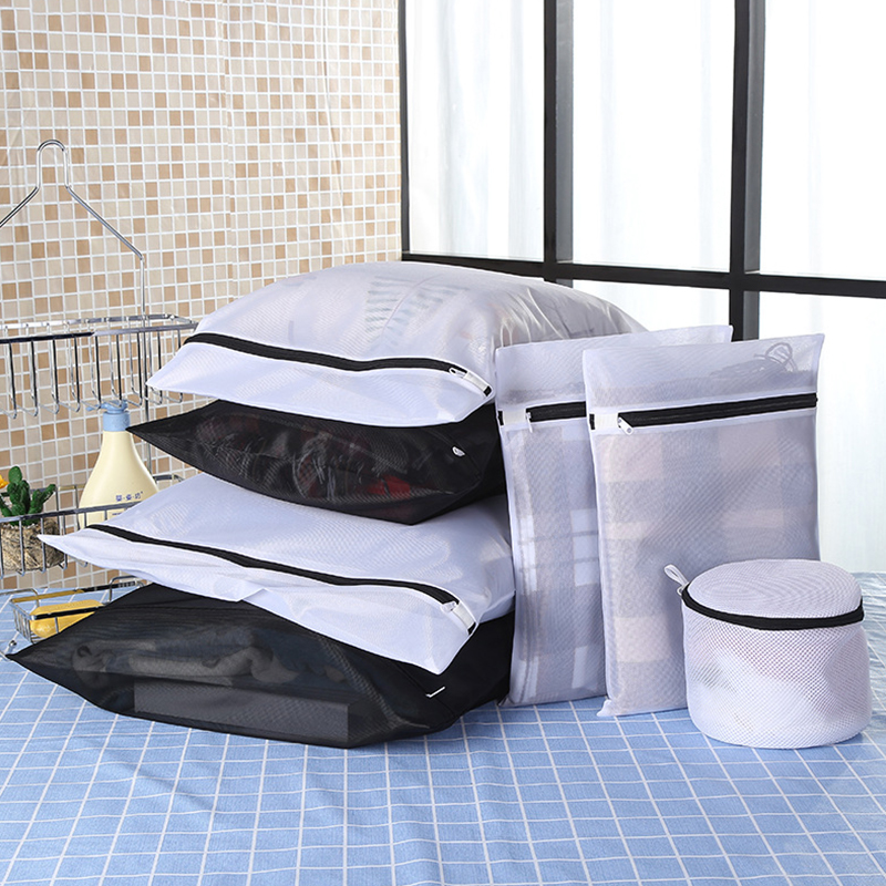 BAKINGCHEF Household 7 Pcs/set Laundry Bags Foldable Clothes Bra Socks Underwear Washing Machine Protection Net Mesh Zipper Bag|Laundry Bags|Home & Garden - title=
