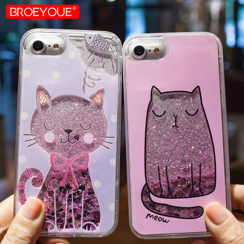 Liquid Glitter Case For iPhone XS Max Case 5 5S SE 6 6S 7 8 Plus Cases For iPhone 7 8 6 6S 5 5S 5E Case For Quicksand TPU Coque iPhone