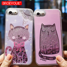 Liquid Glitter Case For iPhone XS Max Case 5 5S SE 6 6S 7 8 Plus Cases For iPhone 7 8 6 6S 5 5S 5E Case For Quicksand TPU Coque(China)