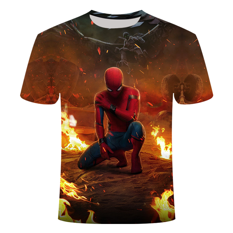 3D Printed Tshirt Short-sleeved Spiderman 4 Hero Clothes  Men's Women's Children's T-shirt Summer Half Sleeve Asian Size 6XL