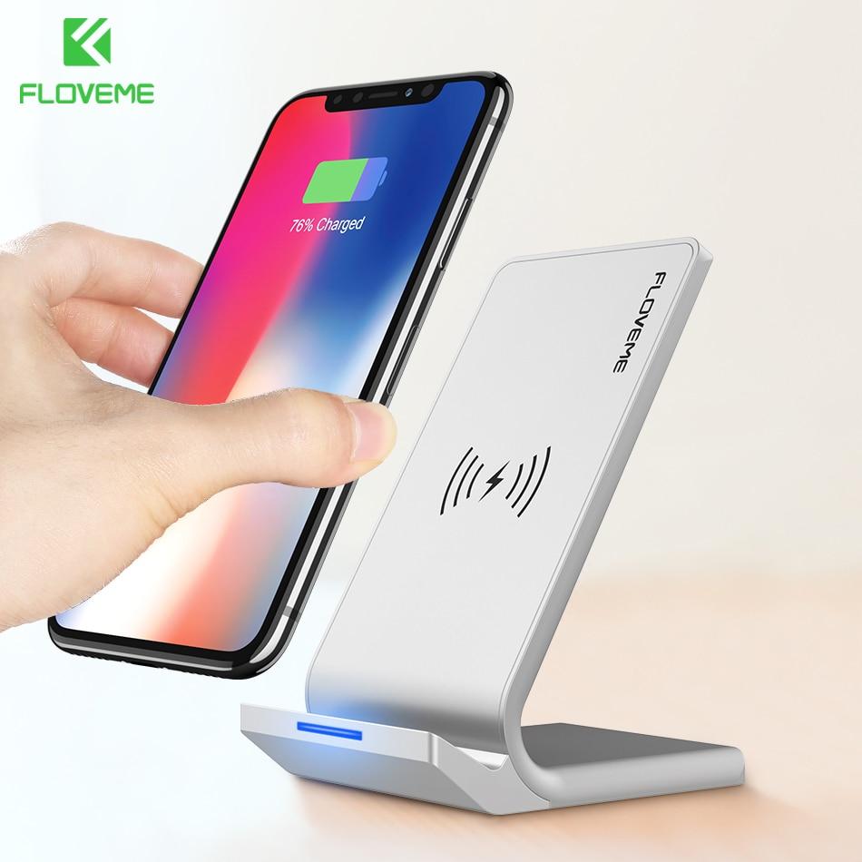 FLOVEME Universale Qi Caricatore Senza Fili Per iPhone X 10 Veloce 8 Più Caricatore USB 10 w di Alimentazione di Ricarica Per Samsung galaxy S8 S9 Nota 8