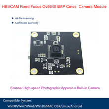 HBVCAM USB Camera Module Fixed Focus Ov5640 5mp Cmos Sensor Camera Module For Document Scanner стоимость