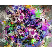 color butterfly diamond Embroidery diy painting mosaic diamant 3d cross stitch pictures H420