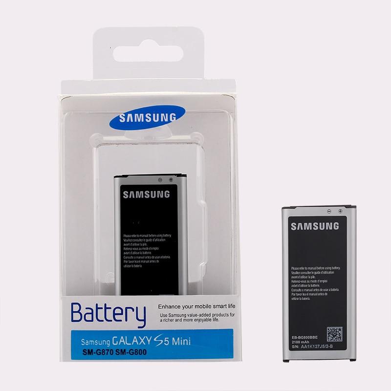SAMSUNG Original Remplacement Batterie bateria s5 EB-BG800CBE Pour Samsung GALAXY S5 mini S5mini G800F 2100 mah S5MINI G870a G870W