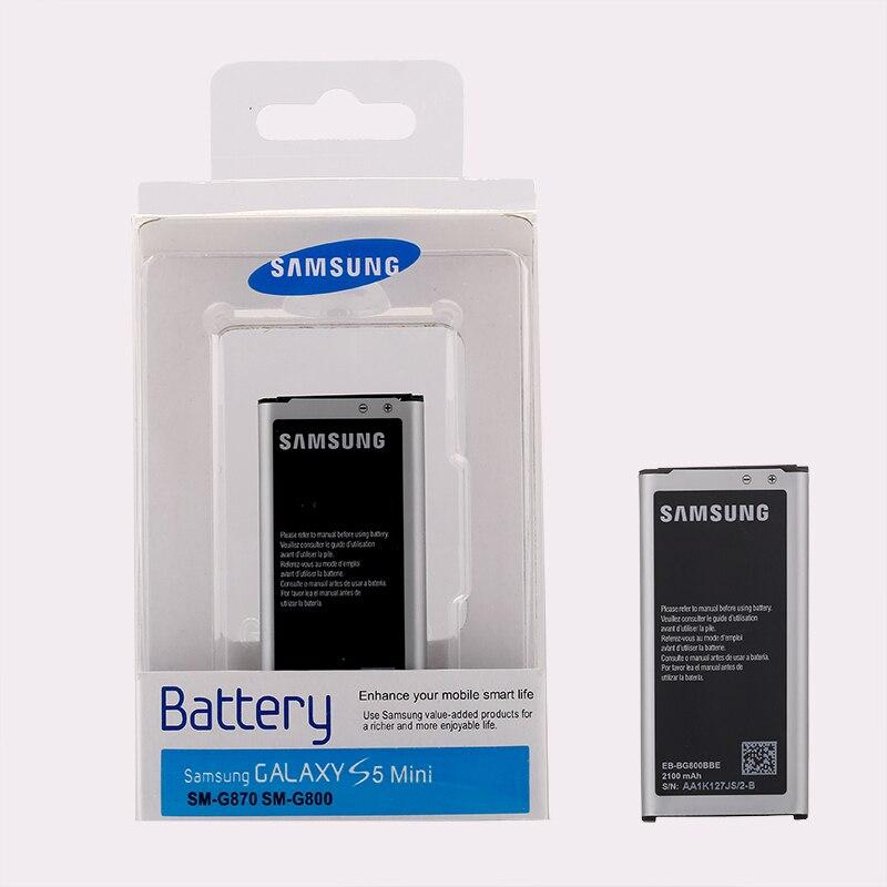 SAMSUNG Original Replacement Battery bateria s5 EB-BG800CBE For Samsung GALAXY S5 mini S5mini G800F 2100mAh S5MINI G870a G870W