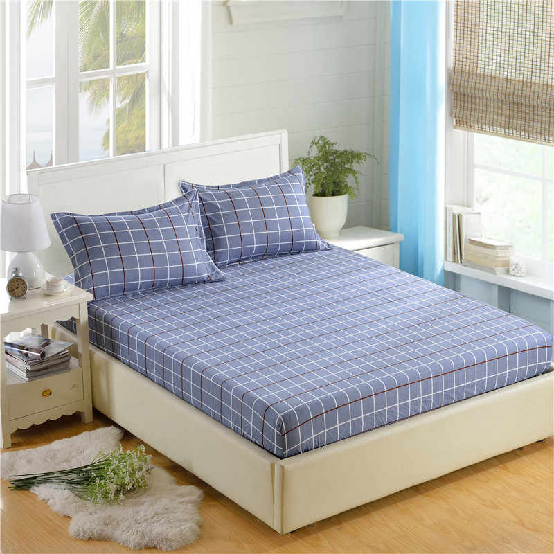 Lamgta 1 шт. 100% лист из полиэстера матраса кровать простыни печати установлены четыре углы с эластичным