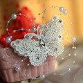 3 UNIDS Nuevo casco nupcial de la perla pernos de pelo accesorios de joyería hecha a mano de la perla de la boda de la mariposa pinzas para el cabello al por mayor