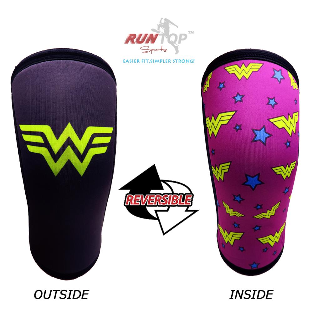 PAIR 7mm Neoprene Knee Sleeve Support Crossfit Power Weight Lifting Squats Brace