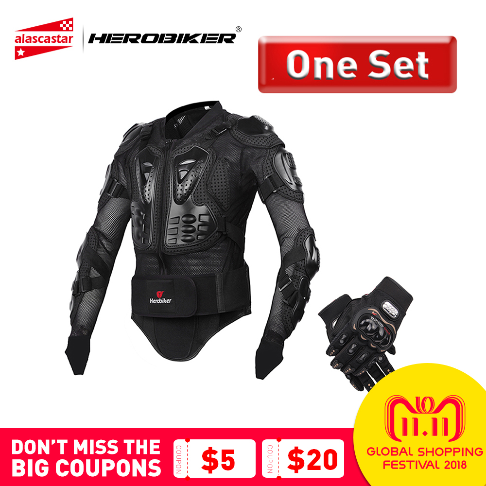 HEROBIKER Motorcycle Jacket Men Protective Gear Motorcycle Armor Full Body Armor Motocross Racing Motorcycle Moto Jacket S-5XL herobiker armor removable neck protection guards riding skating motorcycle racing protective gear full body armor protectors