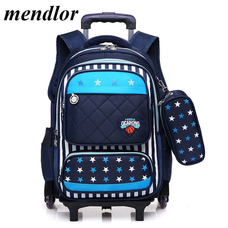 Kids 2/6 Wheels Removable Trolley Backpack Wheeled Bags School Bag for Boys Girls Travel Bags Child School Backpack MochilaKids 2/6 Wheels Removable Trolley Backpack Wheeled Bags School Bag for Boys Girls Travel Bags Child School Backpack Mochila