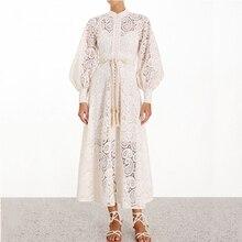Vintage Kemer Elbise dantel