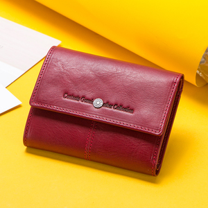Image 2 - Kontakts Echtes Leder Frauen Geldbörsen Karte Halter Zipper Geldbörsen Damen Kleine Kupplung Tasche Qualität Weibliche Brieftasche Carteira