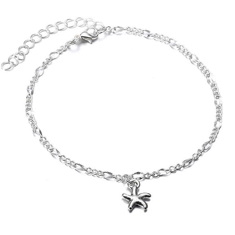 Винтажный браслет, ювелирные изделия для ног, ретро-браслет на ногу для женщин, девушек, цепочка на лодыжку, шарм, морская звезда, бисер, браслет, модное пляжное ювелирное изделие