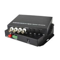 High Quality HD CVI 4 Channel Video Fiber Optical Converters Transmitter Receiver For 720P 960P AHD CVI TVI HD Cameras CCTV