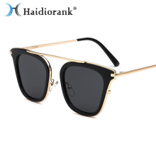 2017 New Fashion Sunglasses For Women Brand Designer Metal Black Luxury Mirror Vintage Retro Sun Glasses Hipster Female Lunette