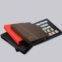 PCCB/MINGT 3 טבעות עור ריק אלבום עבור 7/9 חורי חותמת גיליונות נייר כסף מטבעות חותמת ספר אוסף לשים 35 גיליונות