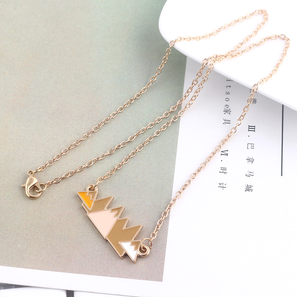 Anime Adventure Time With Finn And Jake Mountain Peaks Necklace