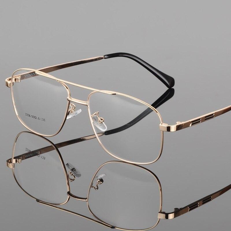 Vazrobe Gold Eye Glasses Men eyeglasses Frame for male optical lens Prescription for Men's Myopia diopter Eyeglass square retro