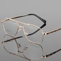 Vazrobe Retro Gold Square Eyeglasses Frame Men Custom Make Prescription Eye Glasses Frames For Male Myopia