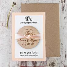 Персонализированные Уникальные свадебные уведомления деревянные сохранить дату магниты прием гостей в доме невесты сувениры подарки пригласительные карты