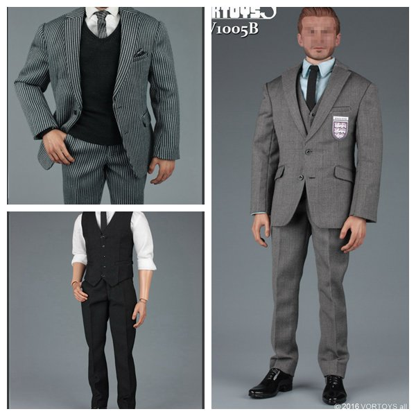ФОТО 1:6 Scale male Figure Accessory clothes Gentleman Suit set for 12