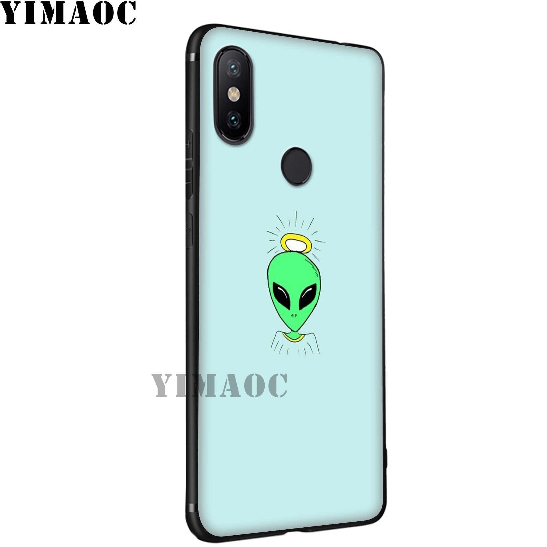 Yimaoc Alien Percaya UFO Soft Case untuk Xiao Mi Mi 9T 9 8 Se 6 Max 3 A1 A2 lite Mi A1 Mi A2 CC9E CC9 6X 5X Pocophone F1
