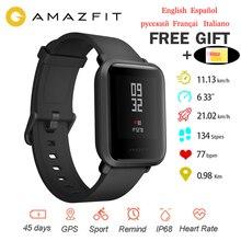 Международная версия Оригинальный Xiaomi Amazfit Bip Смарт часы Huami gps Smartwatch Android iOS 45 дней батарея IP68