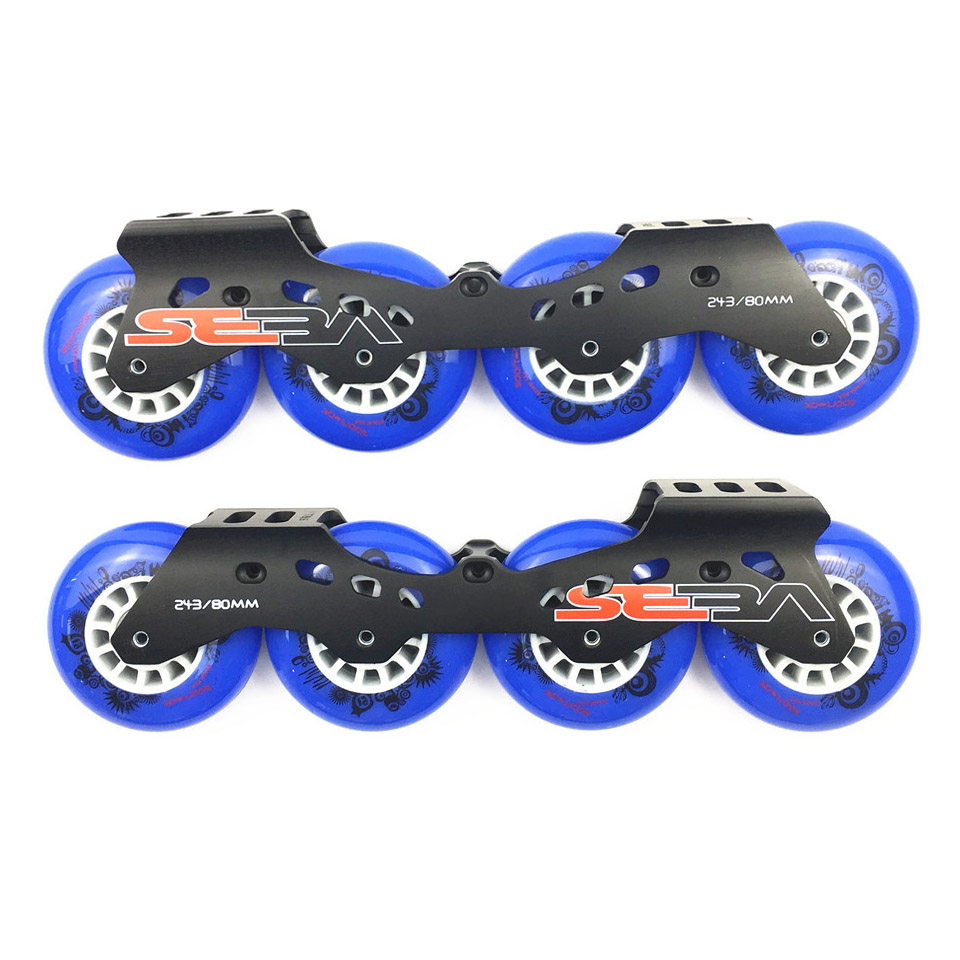 JEERKOOL Inline Seba Slalom Slide Roller Skates Frame with PK 80mm Wheels Aluminum Alloy Skating Base 85A Wheel 7.95 Basin DJ35 slalom fsk inline skates patines for adults daily skating sports with 85a pu wheels abec 7 bearing aluminium alloy frame base