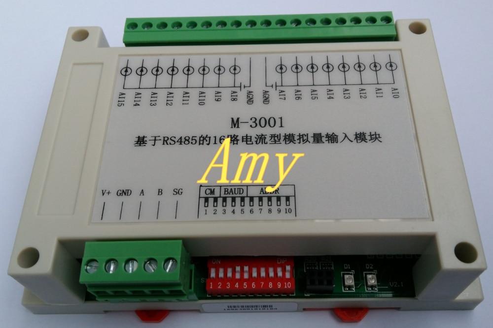 PLC expansion module RS485 bus communication ADC acquisition card 16 analog input AI module