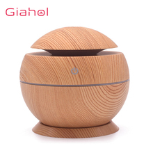 130ML Mini Air Humidifier Aroma Essential Oil Diffuser USB Wood Grain Mist Maker Ultrasonic Aromatherapy For Home Office